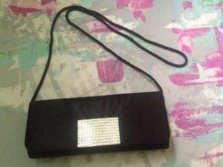 Black mini party bag