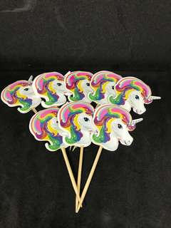 Unicorn 🦄 Cake toppers