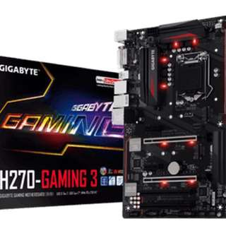 Intel 7th Gen Chipset Motherboard GA-H270-Gaming 3 Gigabyte + i5 7600