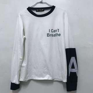 長袖 字母棒球拼色上衣