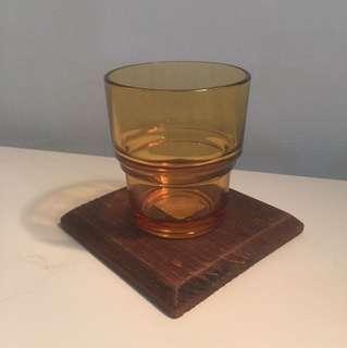早期  法國製 vereco 歐洲老品 玻璃杯 水杯  稀品 淺色水杯