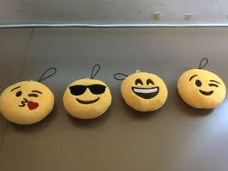Emoji collectible items - total 4pcs