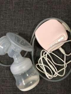 Youha Electric Breast Pump (Free milk bottles)