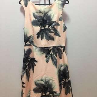 Pink flora dress