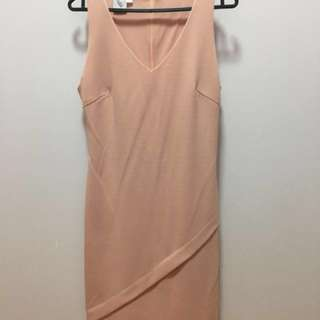 Pink form fitting dress