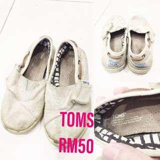 Preloved toms boys shoes
