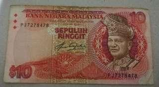 malaysia ten ringgit fifth series