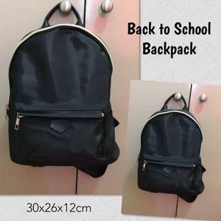 Preppy Ladies School Black Backpack