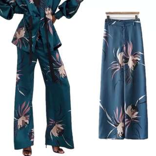 💃🏼Inspired Zara Floral Print Palazzo High Waist Trousers💃🏼