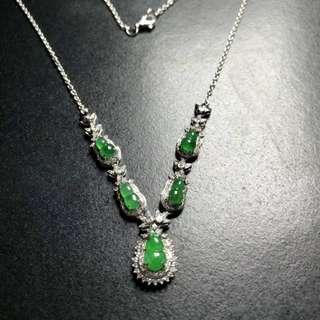 福禄葫芦翡翠鑽石鑲嵌項鏈