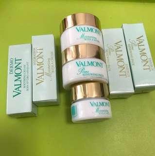 (Price written down delow) Valmont sample moisturizing mask eye c gel soothing cream *****(((renewing pack mask 15ml & 5ml all sold)))****
