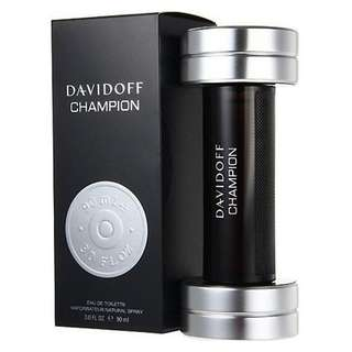 Davidoff Champion EDT for Men (50ml/90ml/Tester) Black