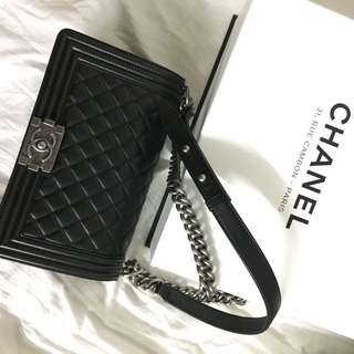 [SALE]Chanel Boy Chanel bag small, lamb skin, 98% new