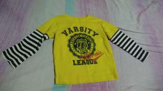 Yellow Varsity League Sweater