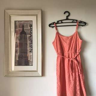 F21 lacy orange dress