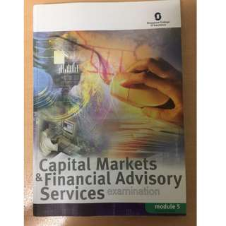 Capital Markets and Financial Advisory Services(M5) textbook
