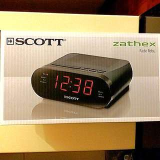 SCOTT Dual Alarm Clock Radio 鬧鐘收音機