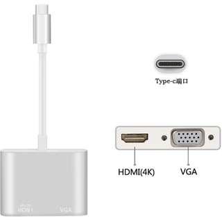 USB Type C to HDMI + VGA Hub 轉換器