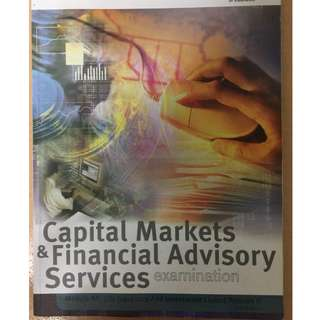 Capital Markets and Financial Advisory Services textbook(M9A)
