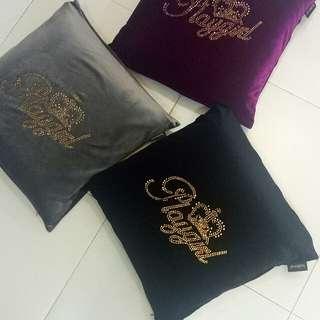 Velvet playgirl cushion cover