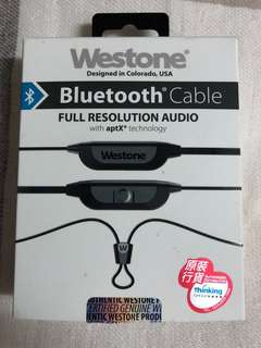 行貨二手全新 Westone Bluetooth Cable MMCX頭