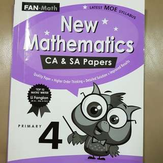 P4 Math CA & SA exam paper practise with and attach at back. top 10 math writer.