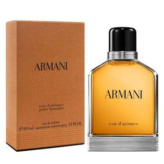 Giorgio Armani Eau d'Aromes Pour Homme EDT for Men (100ml/Tester) DAromes Brown