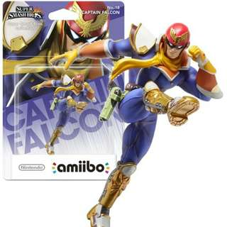 Nintendo Amiibo Super Smash Bros. Series Figure Captain Falcon Wii U 3DS