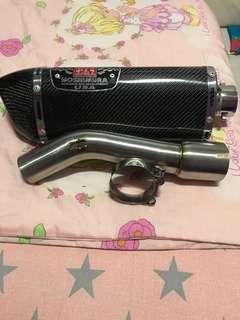 Fz1000 exhaust with linkpipe instock