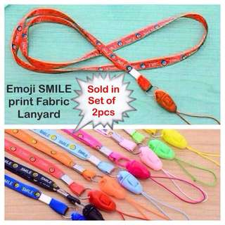 Emoji SMILE print fabric lanyard (for handphones MP4 cameras USB PSP cardholders keys etc) [Children Teachers graduation birthday annual door gifts uncle.anthony uncle anthony uac] FOR MORE PHOTOS & DETAILS, GO HERE: 👉 http://carousell.com/p/148271213