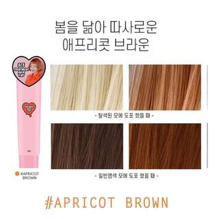 3ce hair tint- apricot brown