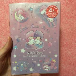 Little twin stars 2018 2019 b6 schedule book planner diary journal agenda diary