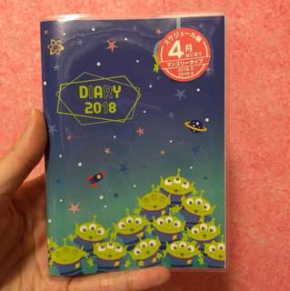 Little green man toy story 2018 2019 a6 schedule book planner diary journal agenda