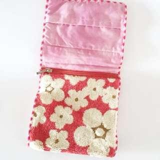 Vintage Makeup Pouch Floral Design