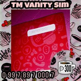 Touch Mobile TM Vanity Special Number Sim