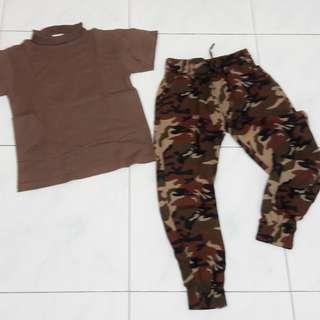 Baju dan celana ARMY.