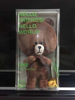 NAVER LINE character doll - BROWN