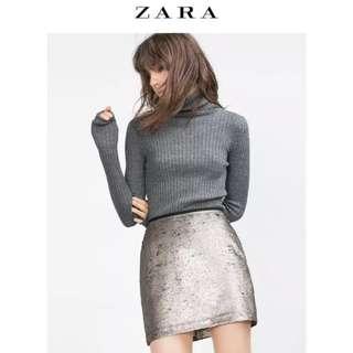 ZARA 🔆閃亮亮 Bling Bling 亮片 短裙 迷你裙 金色
