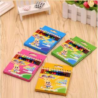 Coloring Pencils 12 pieces Kids Boy Girl Stationery Goodies Bag Student Gift /Birthday Best