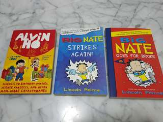 Big Nate and Alvin Ho books