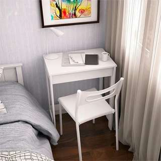 White Office Desk with Chair Set Furniture