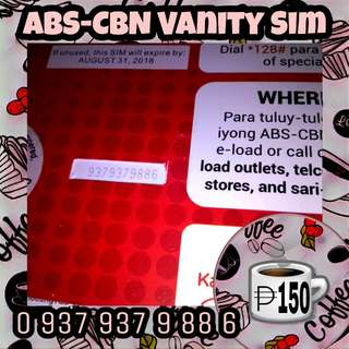 ABS-CBN Vanity Special Number Easy Recall Sim