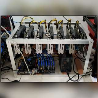 Price Reduced! 210 mh/s - 7 x RX580 8GB Mining Rig (from CryptoMouse) (Free Delivery & Setup)
