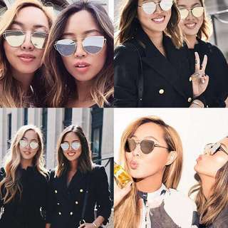 kelsi cat eye reflective diva sunglasses shades
