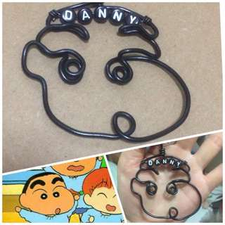 Crayon Shin-Chan Wirecraft Personalised Keychain [ Children's Day Teachers Valentine Christmas Raya birthday door graduation customised gifts handmade uncle.anthony uncle anthony uac ]