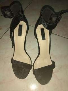 High black heels