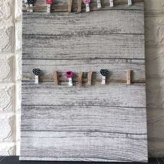 Craft hanging photo board