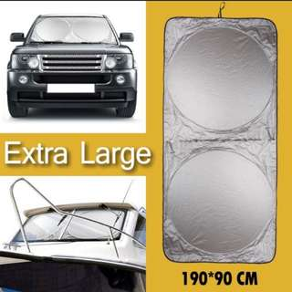 Extra Large 190cm x 90cm Car Dashboard Wind Screen Windshield Foldable Collapsible Sunshade Sun Shade Toyota Mazda Nissan Subaru BMW Mercedes Benz
