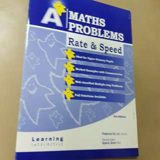 P4 to P6 Math A star problem sum on Rate & Speed.