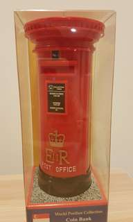 "British colony Post box miniature: ""Singapore colony ER II"""